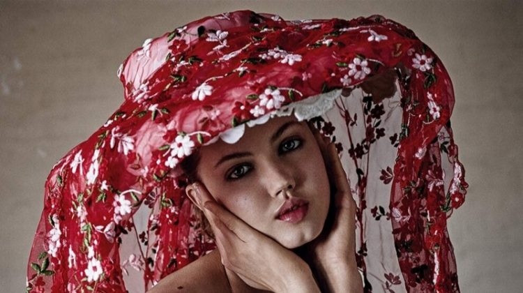 Lindsey Wixson Poses in Elegant Dresses for Stylist UK