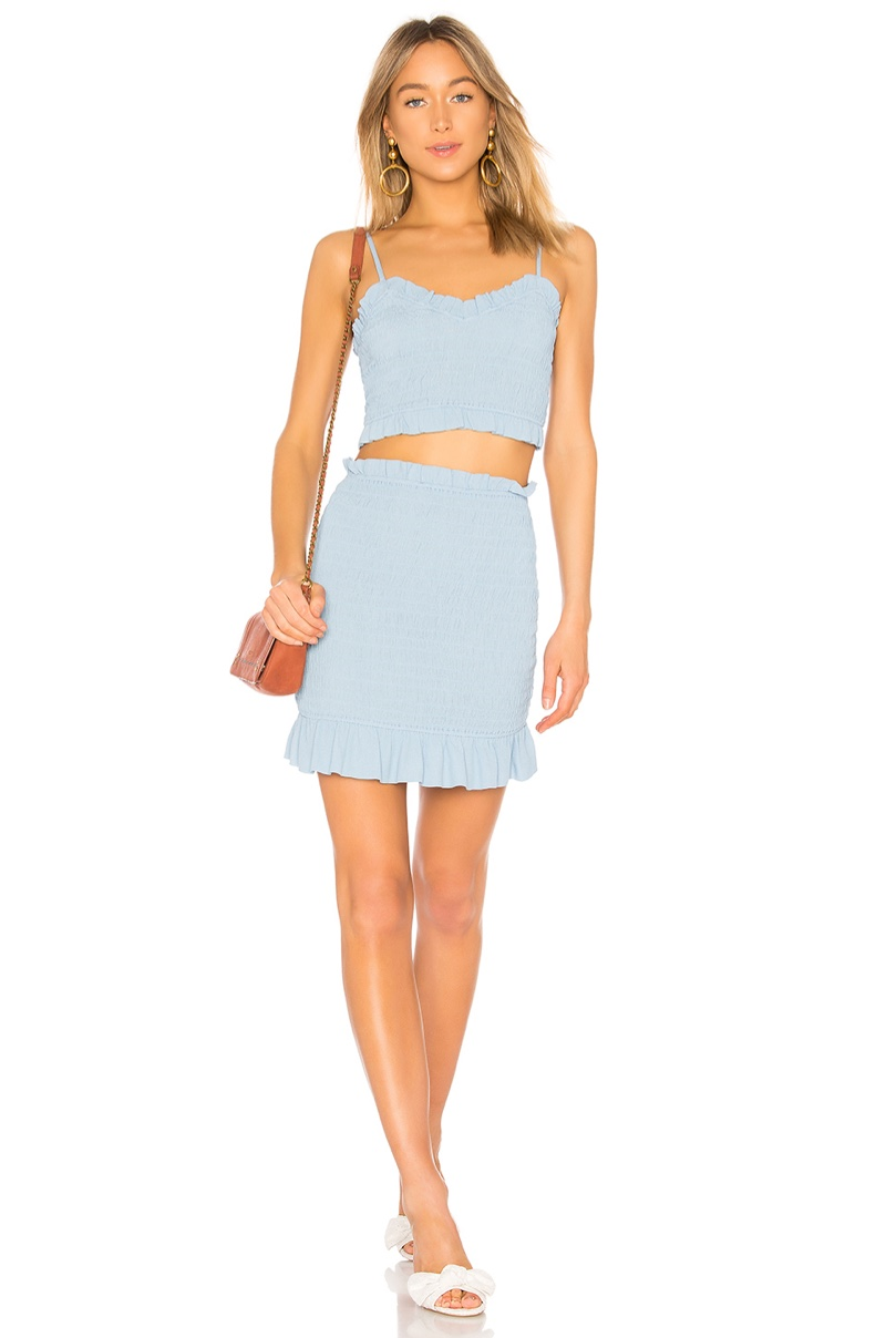Lovers + Friends Monaco Top $98 and Skirt $128