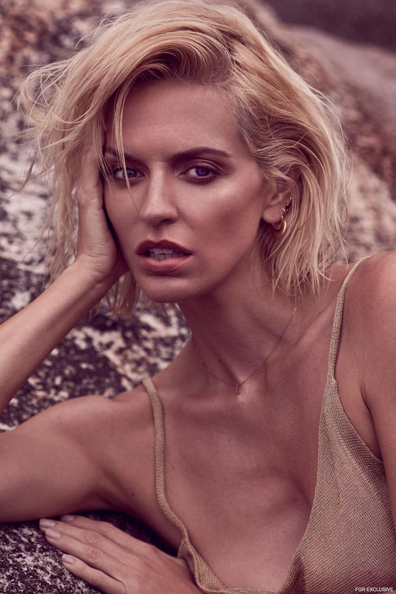 Top Kacey/Devlin, Necklace Linda Tahija and Earrings model's own. Photo: Milos Mlynarik
