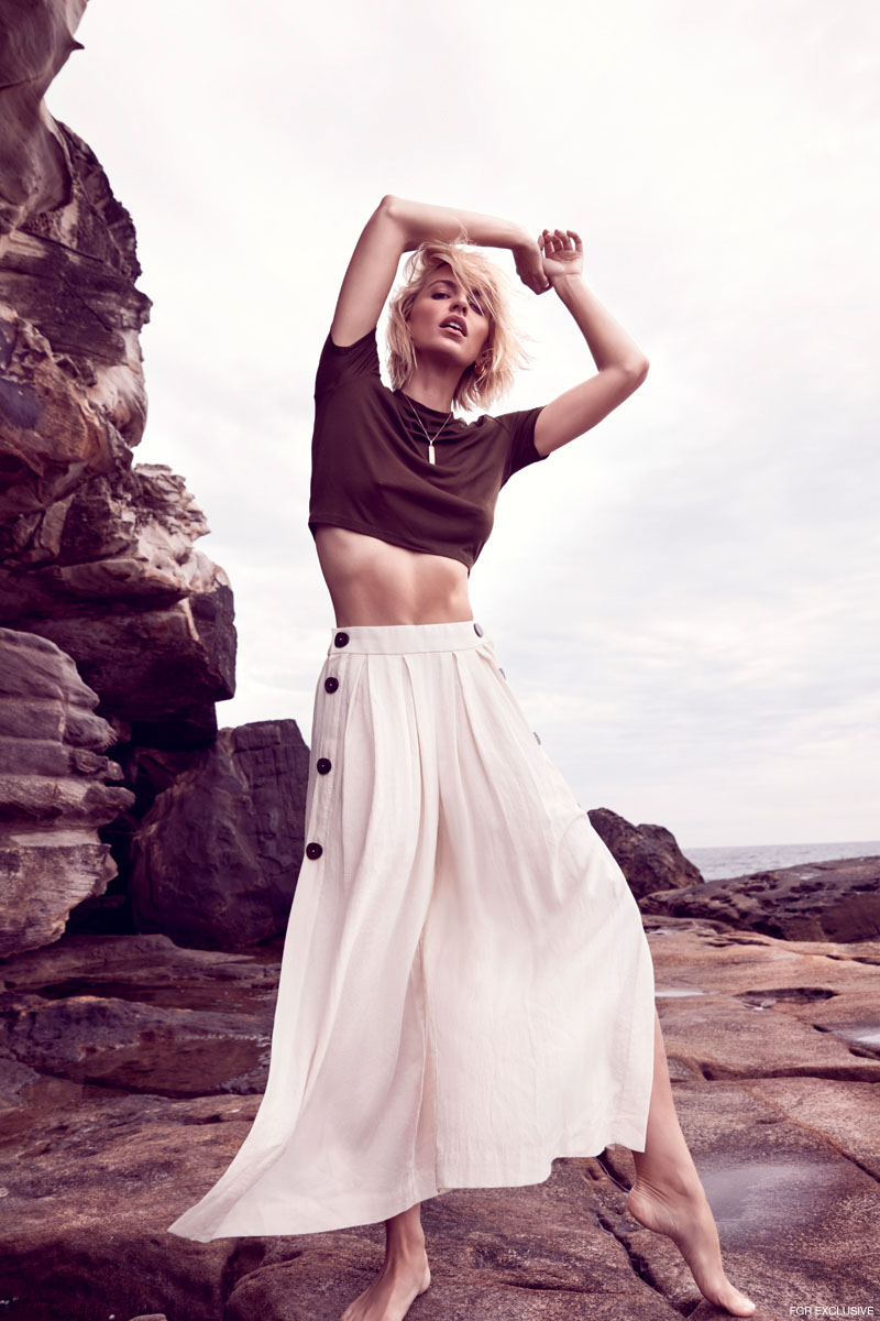 Top & Pants Zara, Necklace & Earrings model's own. Photo: Milos Mlynarik