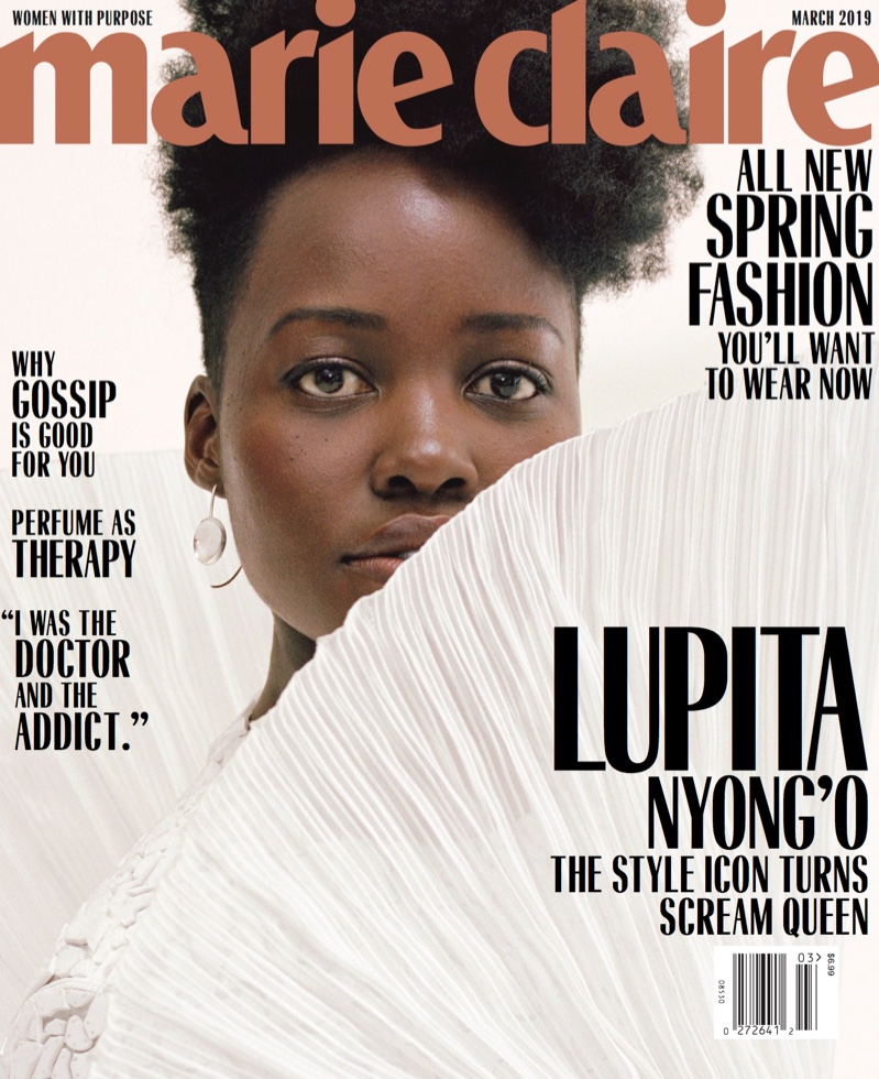 Lupita Nyong'o on Marie Claire US March 2019 Cover