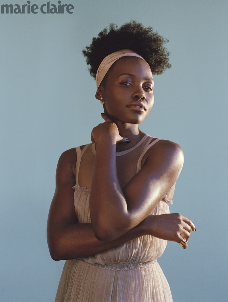 Lupita Nyong'o stuns in a beige look
