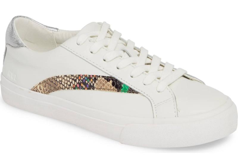 Madewell Delia Sneaker in Snakeskin $80