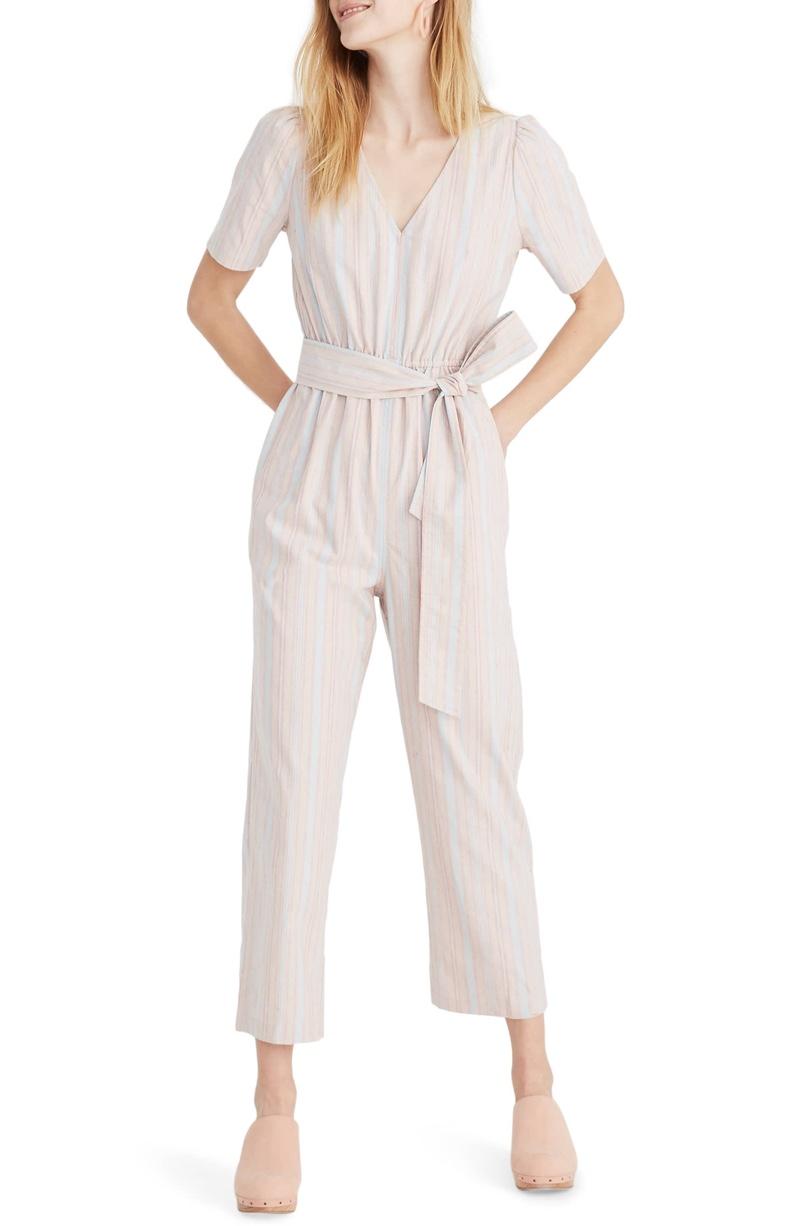 Madewell Puff Sleeve Tapered Jumpsuit $138