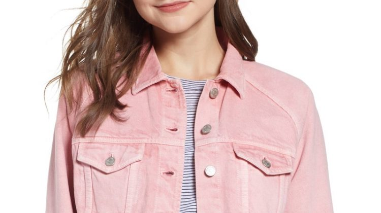 Madewell Raglan Oversize Jean Jacket in Dusty Rose $98