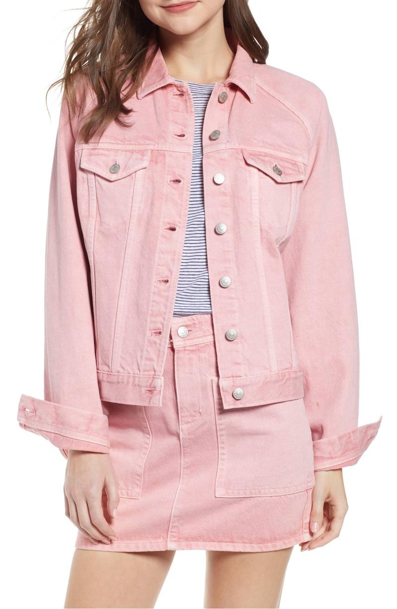 Madewell Raglan Oversize Jean Jacket in Dusty Rose $98