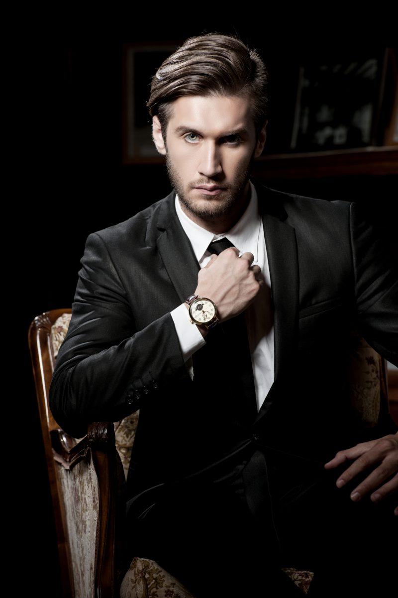 Male Model Suit Watch