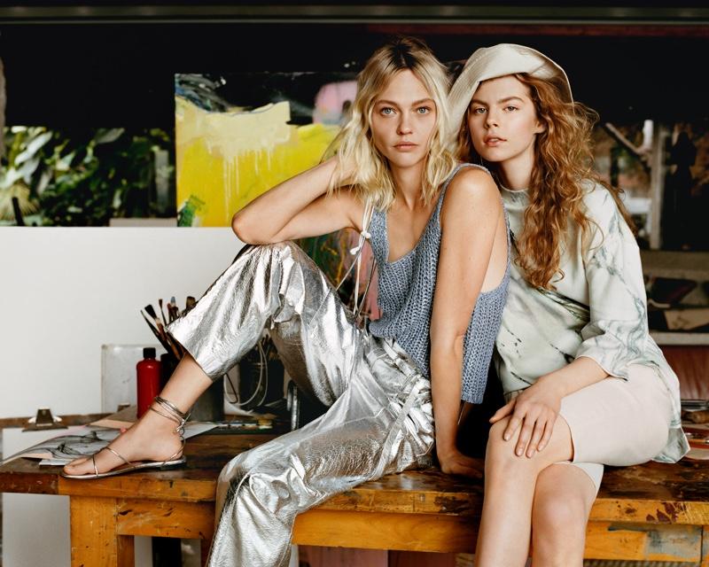 Sasha Pivovarova and Jolie Alien appear in Mango spring-summer 2019 campaign