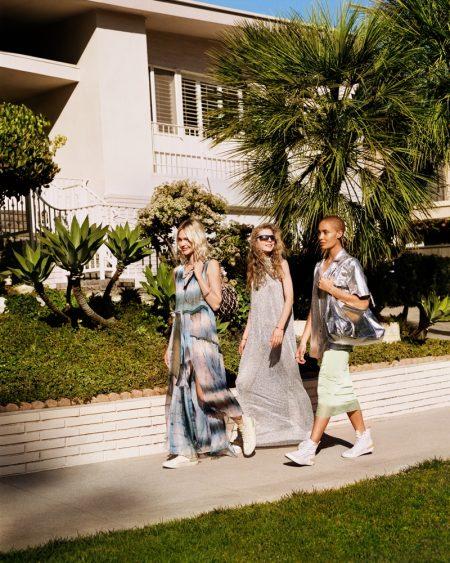 Sasha Pivovarova & Adwoa Aboah Are LA Girls in Mango Spring 2019 Ads