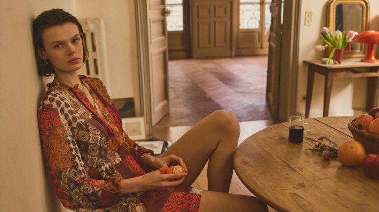 Cara Taylor stars in Mango Urban Bohemia spring-summer 2019 lookbook