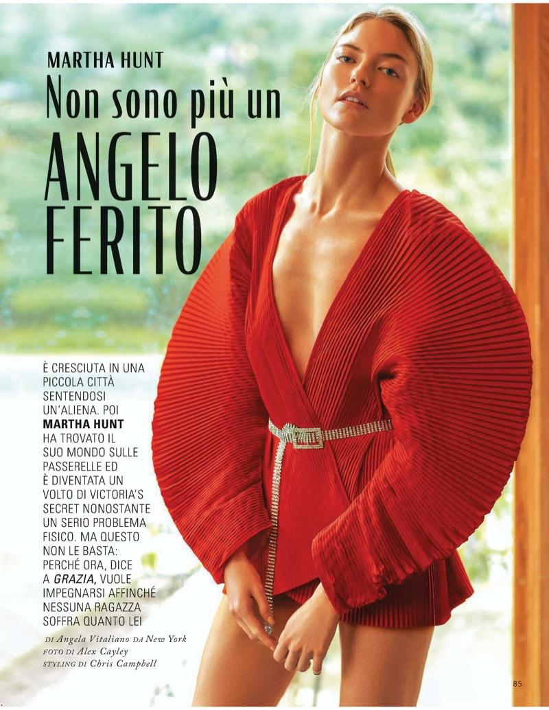 Martha Hunt Models Statement Fashions for Grazia Italy