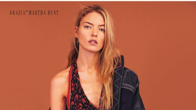 Martha Hunt Models Statement Fashions for Grazia Italy