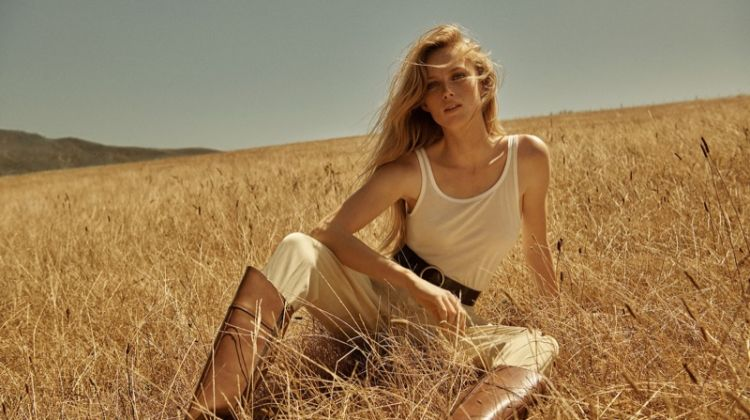 Rianne van Rompaey stars in Massimo Dutti spring-summer 2019 campaign