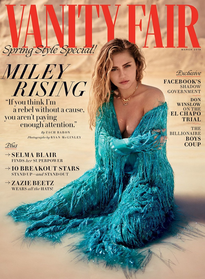 Miley Cyrus on Vanity Fair March 2019 Cover