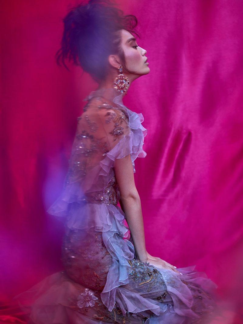Ming Xi Stuns in Elegant Designs for Harper's Bazaar Vietnam