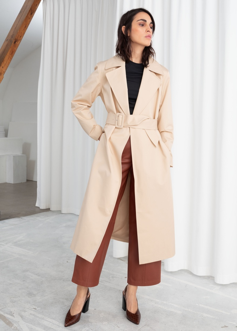 & Other Stories Belted Cotton Twill Trenchcoat $149