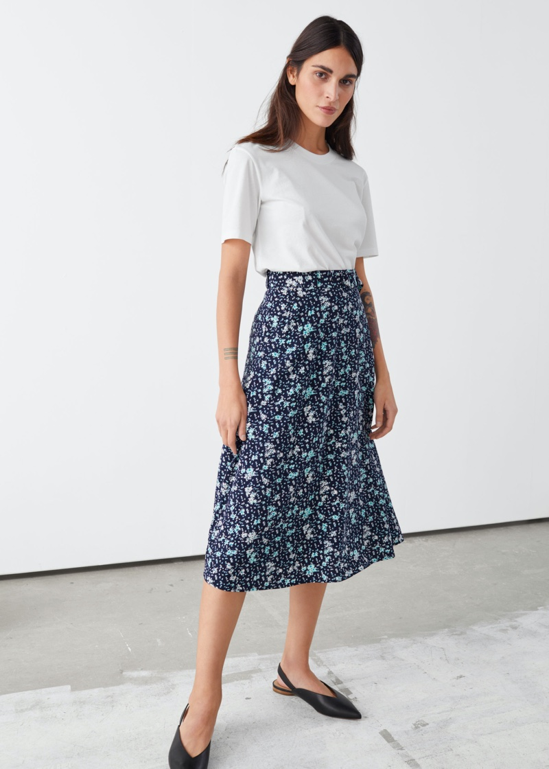 & Other Stories Belted Midi Skirt $69