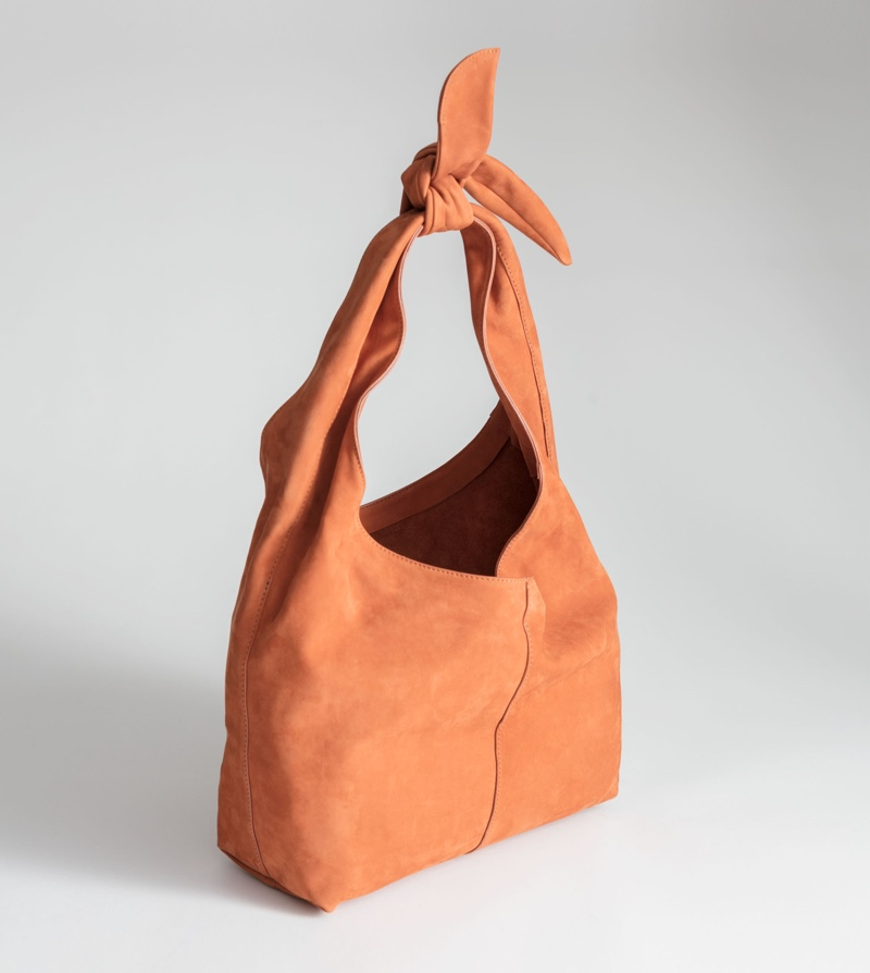& Other Stories Soft Suede Tie Up Bag $149