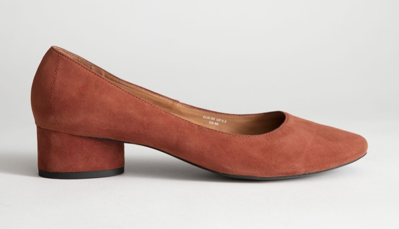 & Other Stories Suede Ballerina Pumps $99