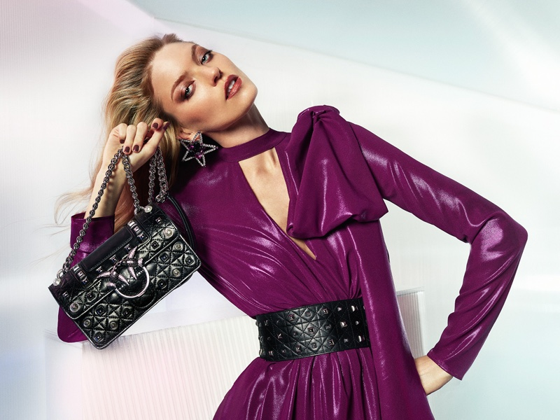 Model Martha Hunt appears in Pinko spring-summer 2019 campaign