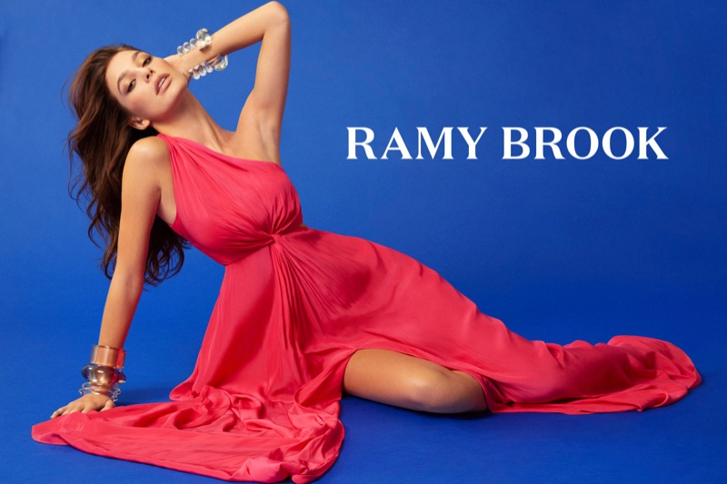 Camila Morrone wears pink dress in Ramy Brook spring-summer 2019 campaign