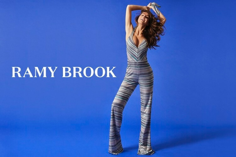 An image from the Ramy Brook spring 2019 advertising campaign with Camila Morrone