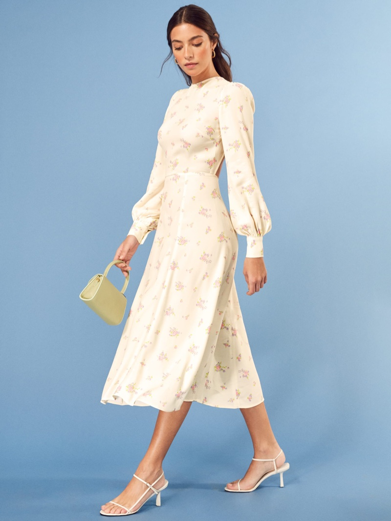 Reformation Abigale Dress in Vacation $218