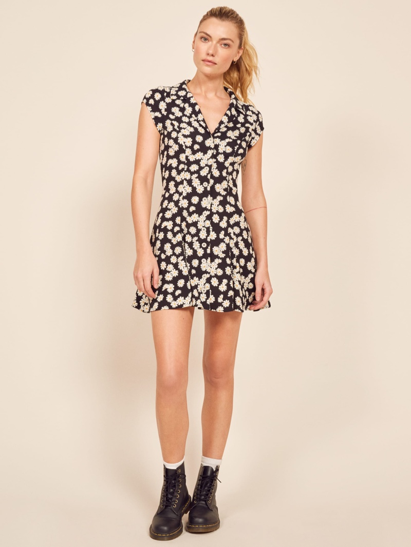 Reformation Concord Dress in Daisy Chain $198
