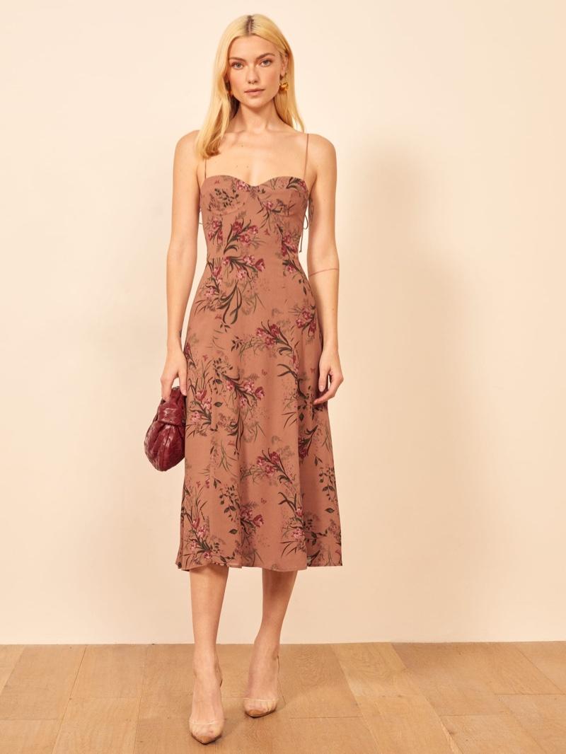 Reformation Evangelista Dress in Cecille $218
