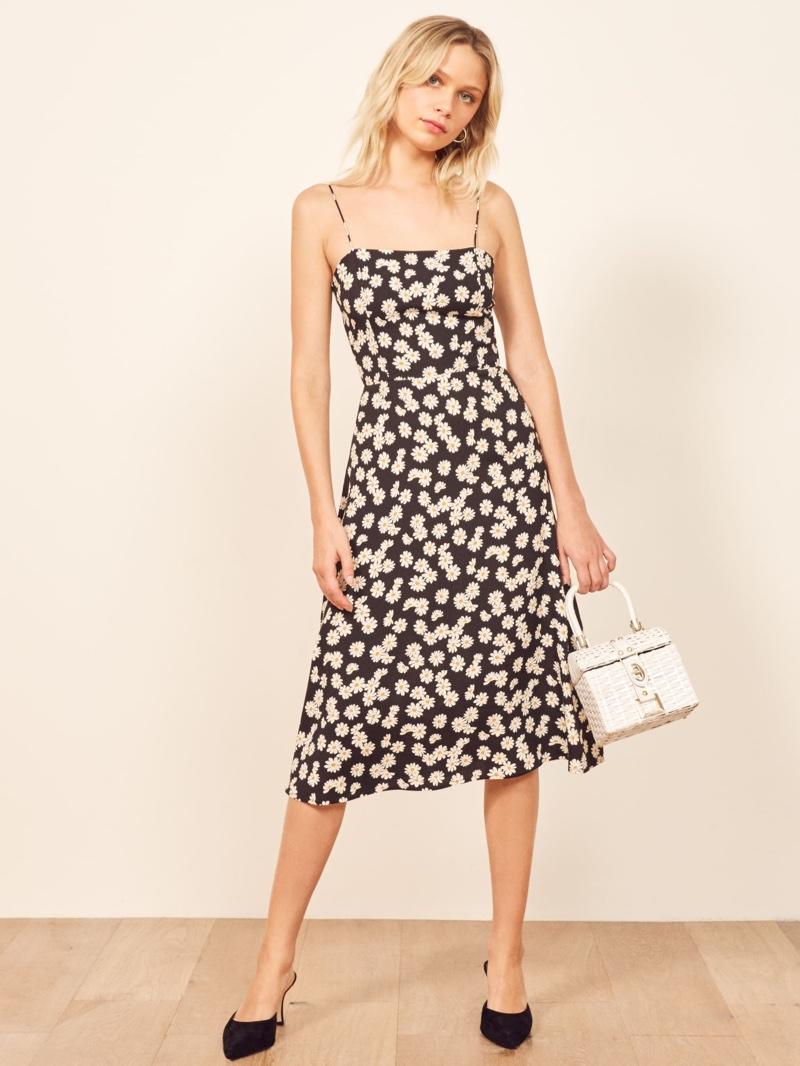 Reformation Peach Dress in Daisy Chain $198