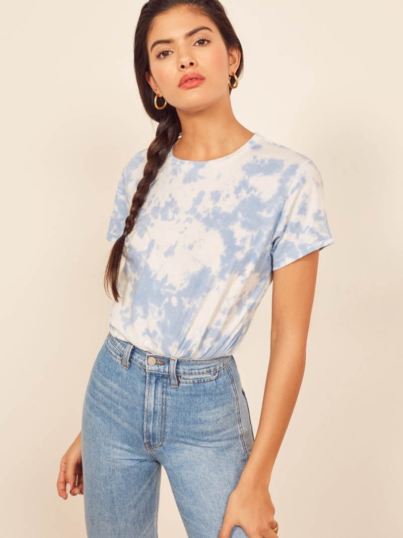 Reformation Perfect Vintage Tee in Capri Sunset $38