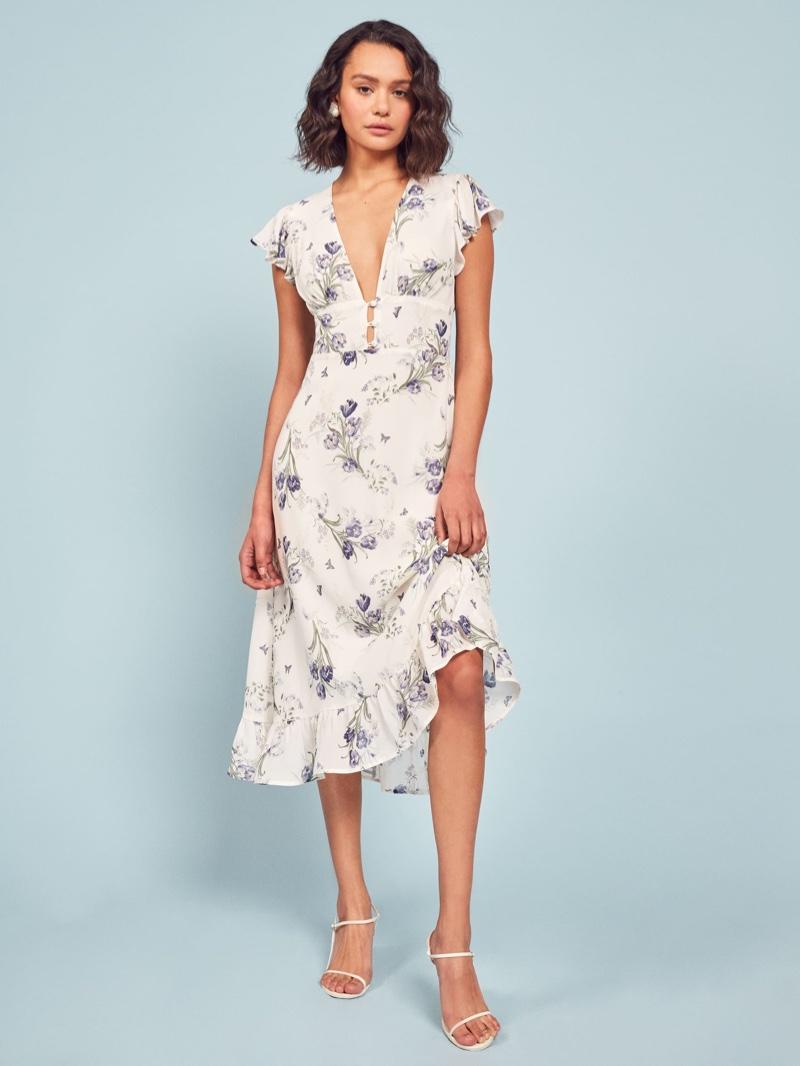Reformation Riegan Dress in Delilah $248