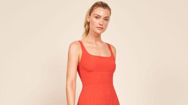 Reformation Tiegan Dress in Hot Day $178