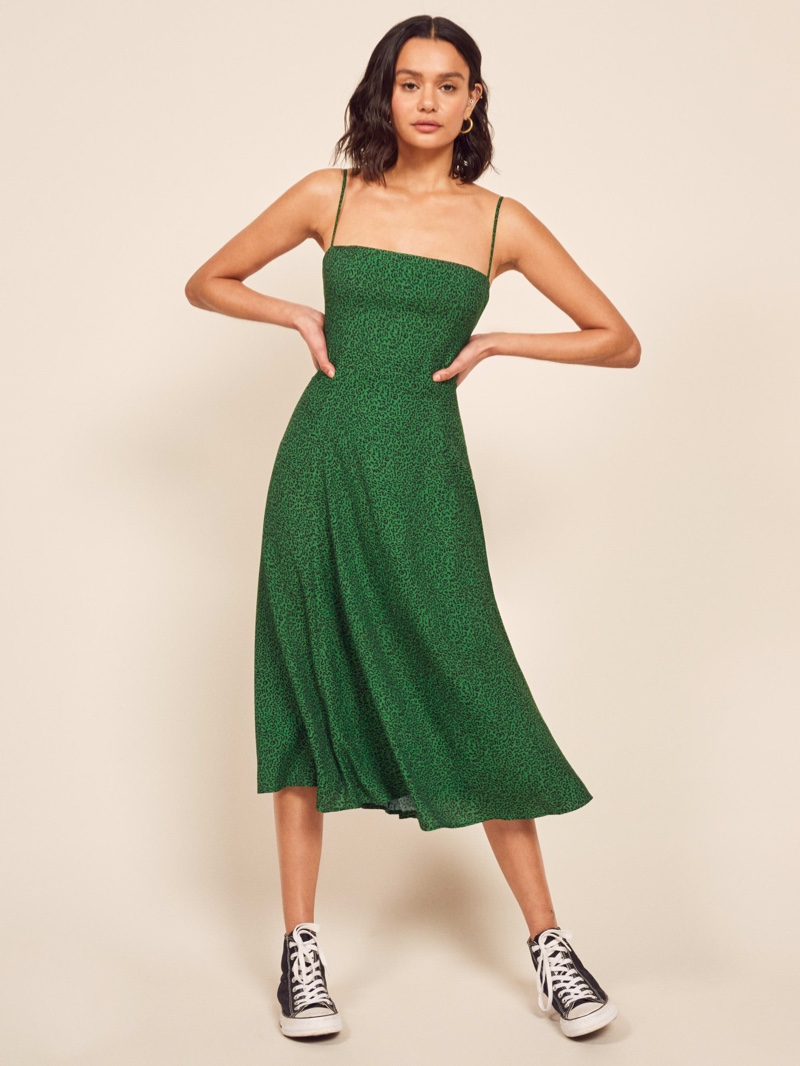 Reformation Vollare Dress in Jitterbug $198
