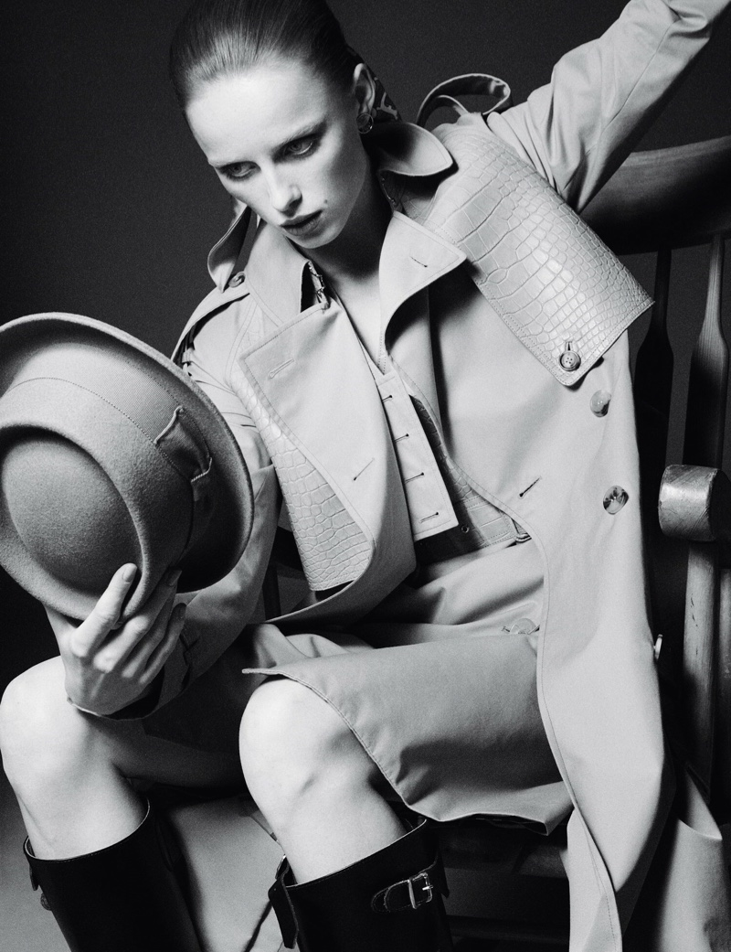 Rianne van Rompaey Models Burberry Looks for AnOther Magazine