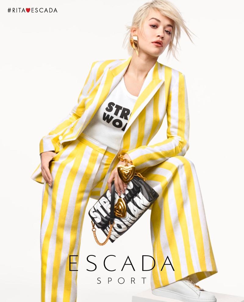Suiting up, Rita Ora fronts Escada spring-summer 2019 campaign