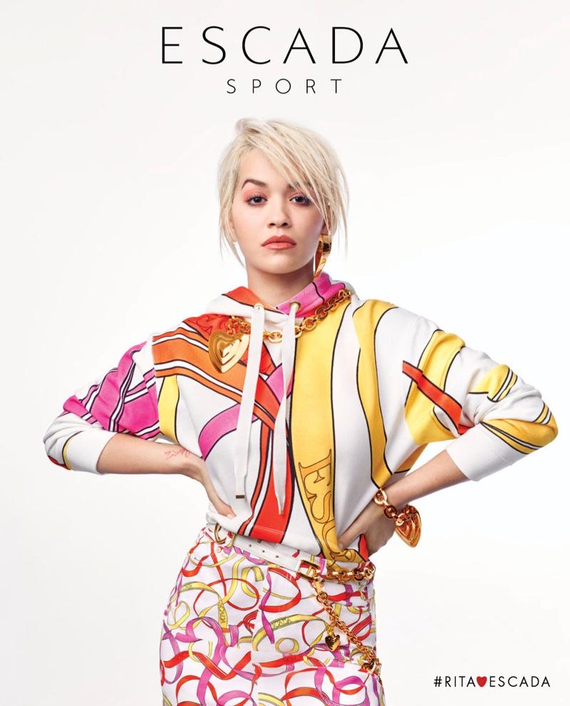 Singer Rita Ora appears in Escada Sport spring-summer 2019 campaign