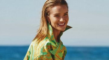 Rosie Huntington-Whiteley Poses in Beach Styles for ELLE Australia