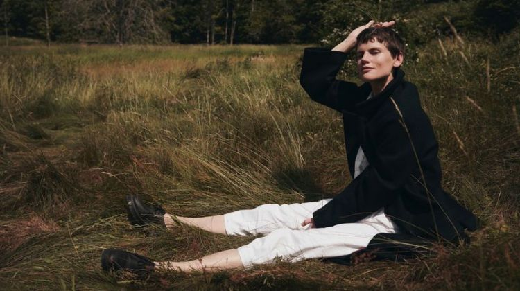 Saskia de Brauw Layers Up Outdoors for Sunday Times Style