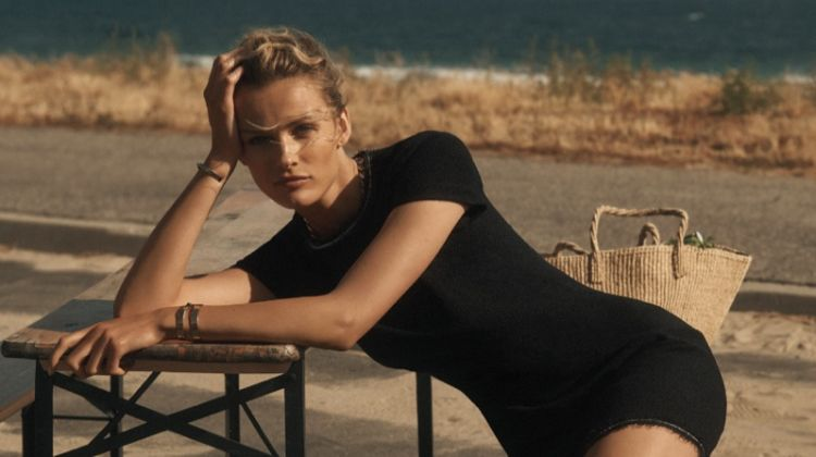 Model Edita Vilkeviciute appears in St. John resort 2019 campaign