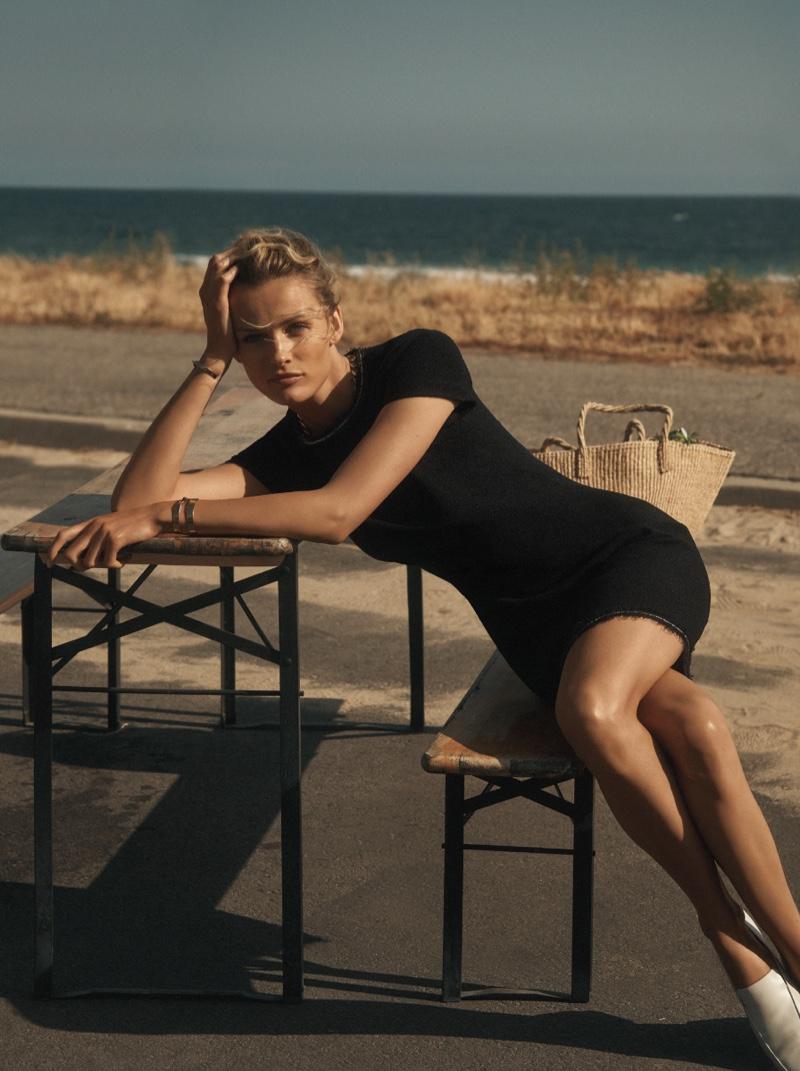 Model Edita Vilkeviciute appears in St. John resort 2019 campaign