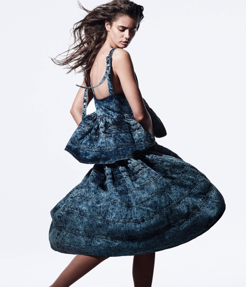 Taylor Hill Wears Next Level Denim for WSJ. Magazine