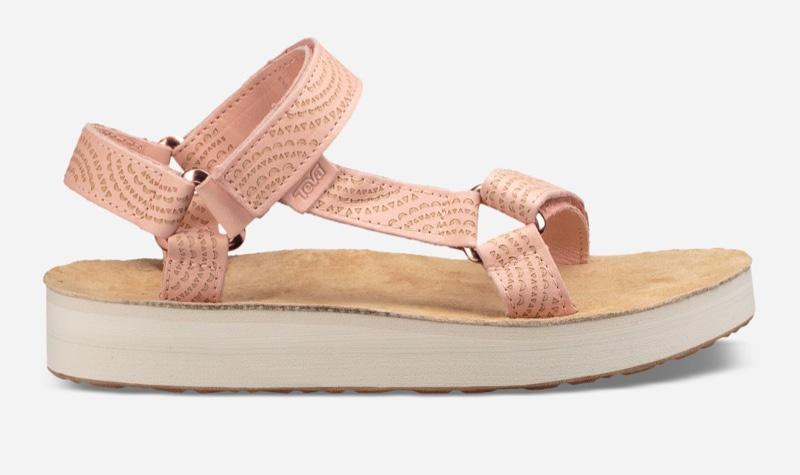 Teva Midform Universal Geometric Sandal in Tropical Peach $85