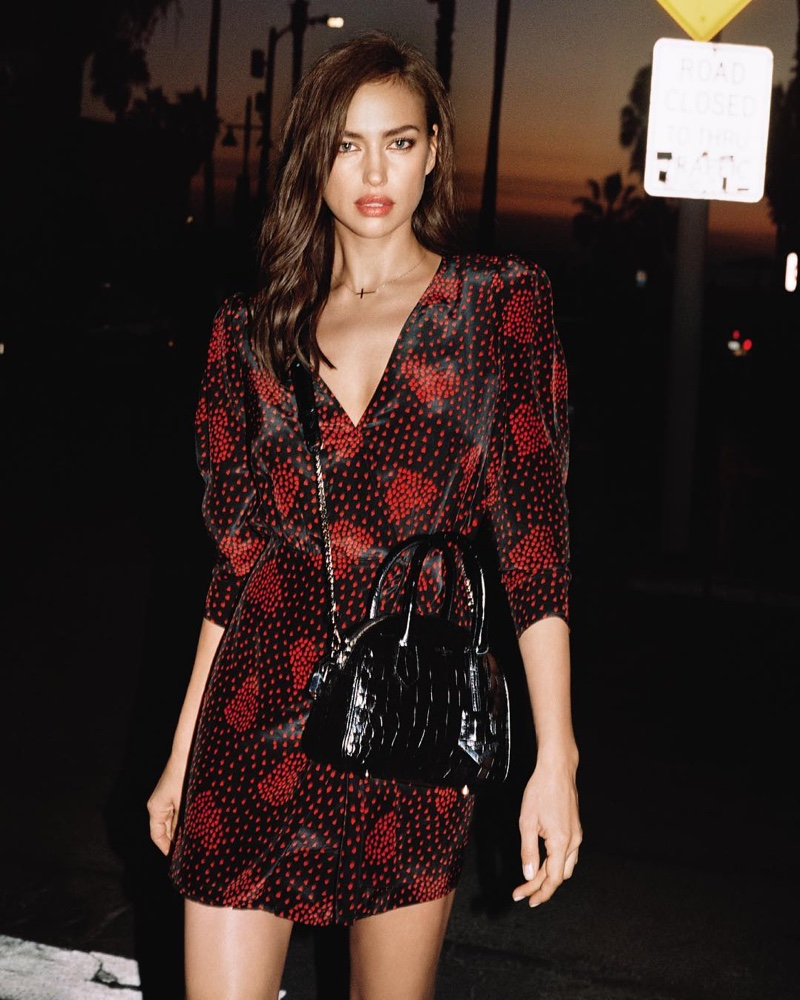Irina Shayk models her bag collaboration for spring 2019 with The Kooples