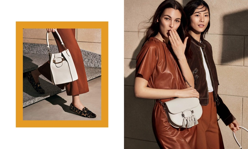 Vittoria Ceretti and Liu Wen star in Tod's spring-summer 2019 campaign