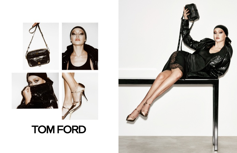 Supermodel Gigi Hadid appears in Tom Ford spring-summer 2019 campaign