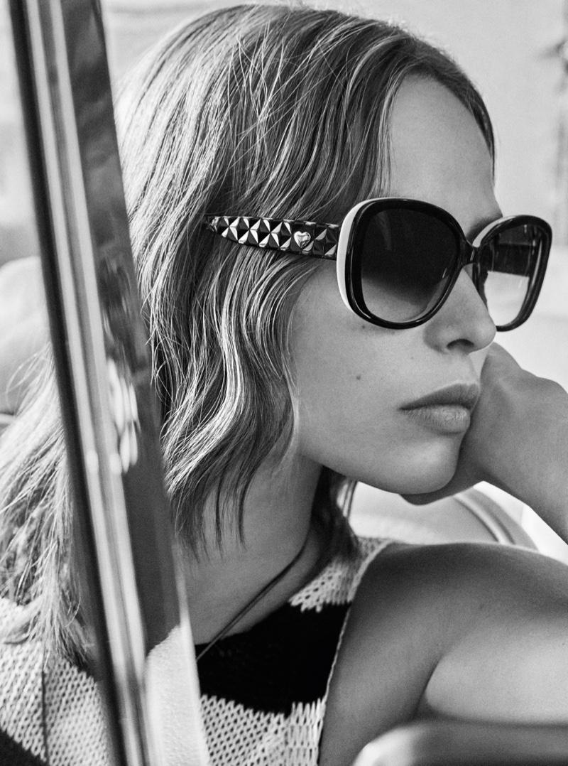 Birgit Kos wears sunglasses in Twinset spring-summer 2019 campaign