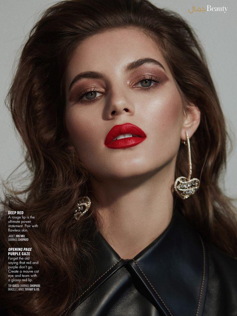 Valery Kaufman Wears Glamorous Beauty for Vogue Arabia