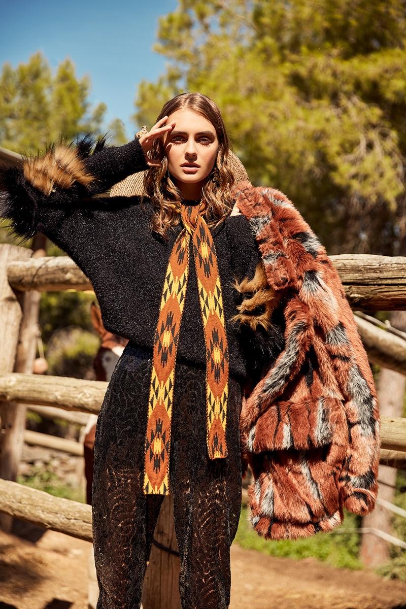 Victoria Vedi Poses in Western Styles for Cosmopolitan Mexico
