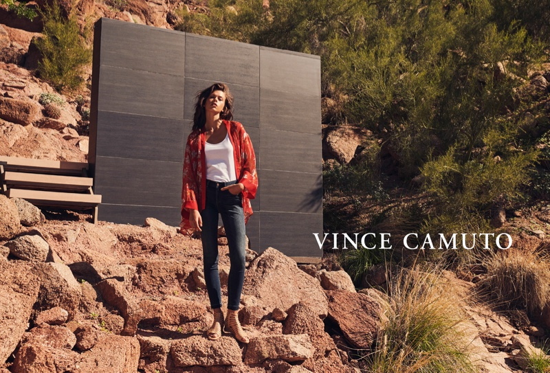 Georgia Fowler appears in Vince Camuto spring-summer 2019 campaign